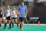 19 September 2014: Duke assistant coach Jarred Martin. The Duke University Blue Devils hosted the University of Virginia Cavaliers at Jack Katz Stadium in Durham, North Carolina in a 2014 NCAA Division I Field Hockey match. Virginia won the game 2-1.