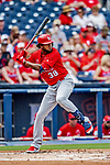 26 February 2019: St. Louis Cardinals designated hitter Jose Martinez at bat during a Spring Training game against the Washington Nationals at the Ballpark of the Palm Beaches in West Palm Beach, Florida. The Cardinals defeated the Nationals 6-1 in Grapefruit League play. Mandatory Credit: Ed Wolfstein Photo *** RAW (NEF) Image File Available ***