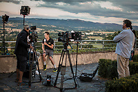 stage winner Daryl Impey (RSA/Mitchelton Scott) interviewed by Dutch National TV 'NOS' <br /> <br /> <br /> Stage 9: Saint-Étienne to Brioude (170km)<br /> 106th Tour de France 2019 (2.UWT)<br /> <br /> ©kramon