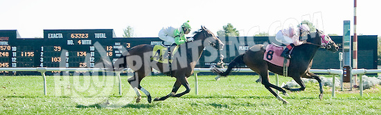 Lil Escape Artist winning at Delaware Park  on 10/5/11
