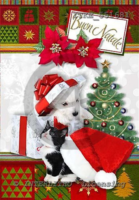 Isabella, CHRISTMAS ANIMALS, paintings,+dogs,++++,ITKE551681,#XA# Weihnachten, Navidad, illustrations, pinturas