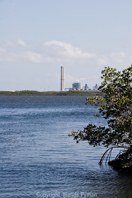the Turkey Point power plant on Biscayne Bay is visible from the park.