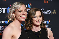 Kate &amp; Helen Richardson-Walsh arriving for the BT Sport Industry Awards 2018 at the Battersea Evolution, London, UK. <br /> 26 April  2018<br /> Picture: Steve Vas/Featureflash/SilverHub 0208 004 5359 sales@silverhubmedia.com