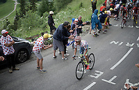 Rafal Majka (POL/Tinkoff) is the first one up the Mont&eacute;e de Bisanne (HC/1723m/12.4km/8.2%)<br /> <br /> Stage 19:  Albertville &rsaquo; Saint-Gervais /Mont Blanc (146km)<br /> 103rd Tour de France 2016