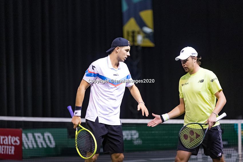 Rotterdam, The Netherlands, 9 Februari 2020, ABNAMRO World Tennis Tournament, Ahoy, Doubles: Henri Kontinen (FIN) (R) and Jan-Lennard STRUFF (GER).<br /> Photo: www.tennisimages.com