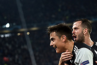 Paulo Dybala of Juventus celebrates with Miralem Pjanic of Juventus after scoring the winning goal of 1-0 <br /> Torino 26/11/2019 Juventus Stadium <br /> Football Champions League 2019//2020 <br /> Group Stage Group D <br /> Juventus - Atletico Madrid <br /> Photo Andrea Staccioli / Insidefoto
