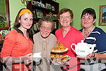 .TEA TIME: Enjoying the Altzimers Tea Day at Marys Murphys Home in Scartaglin on Thursday last were Patricia Murphy, Mary Murphy, Mary Murphy and Kathleen Murphy.   Copyright Kerry's Eye 2008