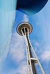 Seattle Space Needle and the EMP building at the Seattle Center