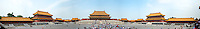 180 degree panorama of Forbidden City plaza in Beijing, China<br /> <br /> Stitched photo: total 15 000 pixel width. <br /> <br /> <br /> <br /> Prints available upon request.<br /> <br /> <br /> <br /> <br /> .