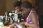 Seamstresses in the village of Manyoro, in the Bolgatanga municipality of North Eastern Ghana...Ghana 20 January 2012.
