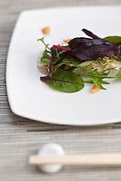 Europe/France/Provence-Alpes-Côtes d'Azur/06/Alpes-Maritimes/Alpes-Maritimes/Nice:  Carpaccio de Daurade Royale  recette de Keiseke Matsushima dans son bistrot de cuisine japonaise: Saison