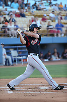 Chris Shaw (15) of the Sacramento River Cats bats against the Las Vegas 51s at Cashman Field on June 15, 2017 in Las Vegas, Nevada. Las Vegas defeated Sacramento, 12-4. (Larry Goren/Four Seam Images)