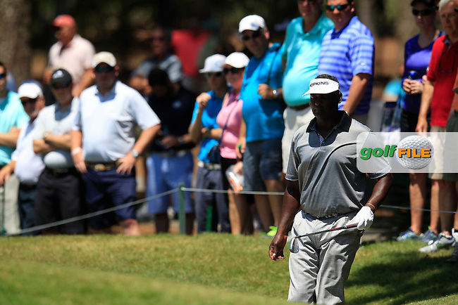 Vijay Singh (FIJ) on the 8th during round 3 at The Players, TPC Sawgrass, Ponte Vedra Beach, Florida, United States. 09/05/2015<br /> Picture Fran Caffrey, www.golffile.ie
