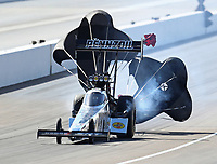 Oct 28, 2018; Las Vegas, NV, USA; NHRA top fuel driver Leah Pritchett during the Toyota Nationals at The Strip at Las Vegas Motor Speedway. Mandatory Credit: Mark J. Rebilas-USA TODAY Sports