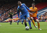 David Mackay and Jamie Murphy challenging for the ball