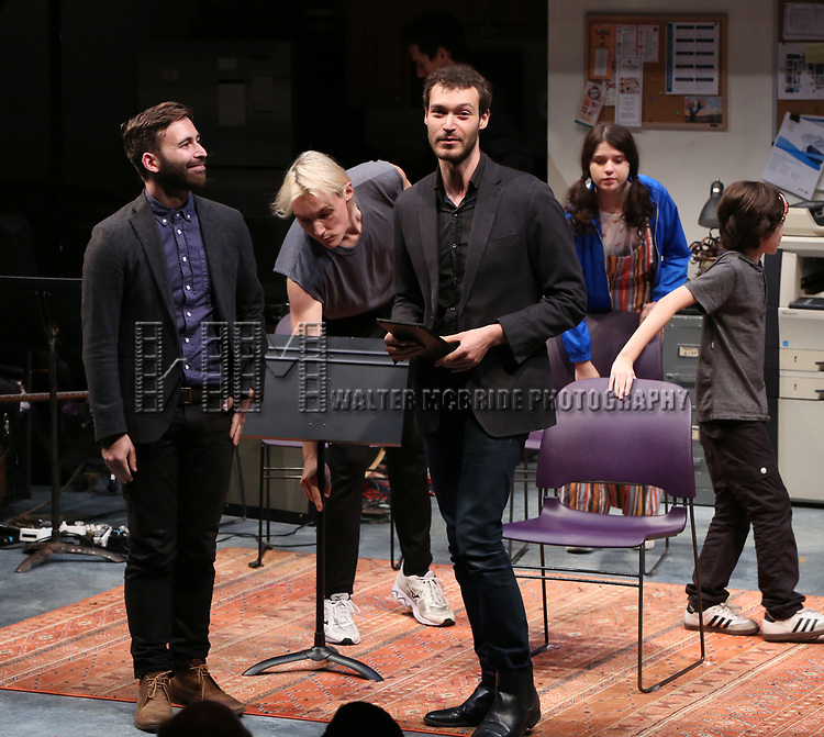 Hunter Bird and Oliver Houser during the 2018 Presentation of New Works by the DGF Fellows on October 15, 2018 at the Playwrights Horizons Theatre in New York City.