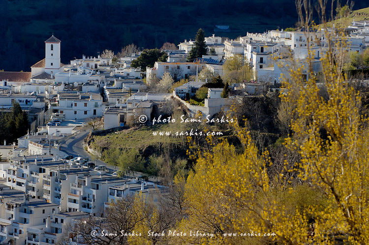 View of Capileira village in the Alpujarras Mountains, Andalusia, Spain.