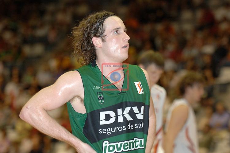 Marcelinho Huertas.AKASVAYU Girona vs DKV Joventut de Badalona: 90-75. Semifinals XXVII Lliga Catalana ACB 2006/2007.
