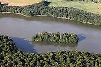 Drüsensee, Luftaufnahme, Luftbild, See im Herzogtum Lauenburg, Waldsee, Lauenburgische Seenplatte, Schleswig Holstein, Norddeutschland, Deutschland