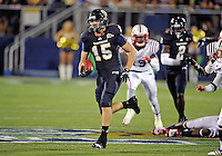 Florida International University football player tight end Colt Anderson (15) plays against the Florida Atlantic University on November 12, 2011 at Miami, Florida. FIU won the game 41-7. .