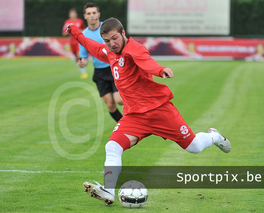 Scotland U19 - Georgia U19 : Daviti Ubilava.foto DAVID CATRY / Nikonpro.be