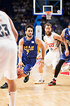 Real Madrid's Sergio Rodriguez and UCAM Murcia's Facundo Campazzo during the first match of the playoff at Barclaycard Center in Madrid. May 27, 2016. (ALTERPHOTOS/BorjaB.Hojas)