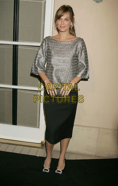 MOLLY SIMS.ELLE Magazine's 14th Annual Women in Hollywood held at the Four Seasons Hotel,  Beverly Hills, California, USA.October 15th, 2007.full length silver grey gray top black skirt simms clutch purse .CAP/ADM/RE.©Russ Elliot/AdMedia/Capital Pictures.