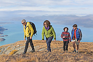 Hiking above Kluane Lake in Kluane National Park, Yukon