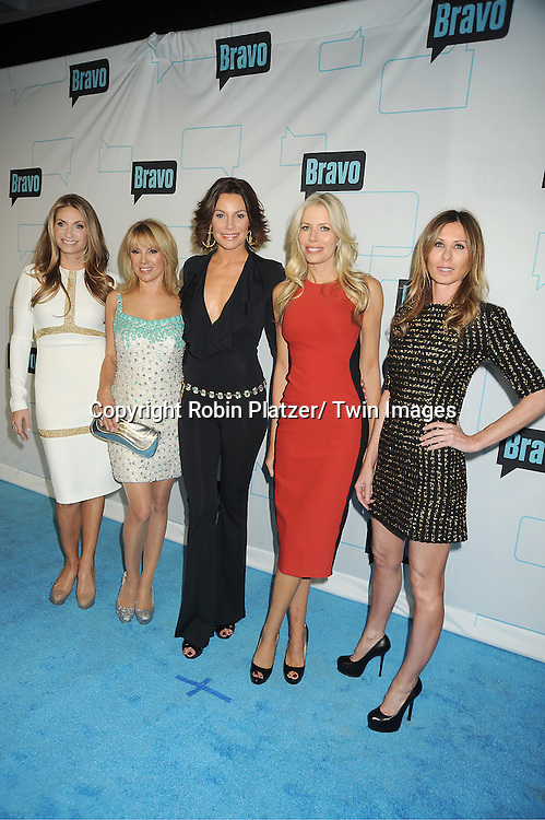 Real Housewives of New York City, Heather Thomson, Ramona Singer, LuAnn de Lesseps, Aviva Drescher and Carole Radziwell attends the Bravo Upfront on April 4, 2012 at 548 West 22nd Street in New York City.