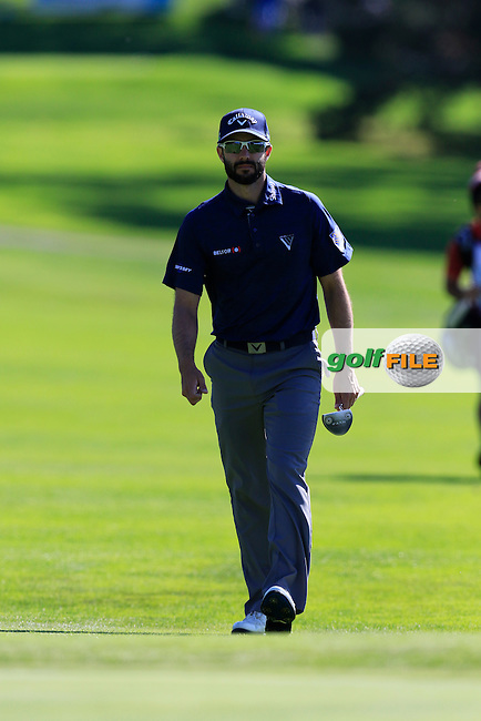 Adam Hadwin (USA) at the 13th green at Pebble Beach Golf Links during Sunday's Final Round 4 of the 2017 AT&amp;T Pebble Beach Pro-Am held over 3 courses, Pebble Beach, Spyglass Hill and Monterey Penninsula Country Club, Monterey, California, USA. 12th February 2017.<br /> Picture: Eoin Clarke | Golffile<br /> <br /> <br /> All photos usage must carry mandatory copyright credit (&copy; Golffile | Eoin Clarke)