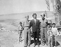 Iran 1972 .Near Rezaieh, from left to right, Akram Agha, Taher Khan,Kemal Agha , brother of Assad Agha  .Iran 1972 .Pres de Rezaieh, de gauche a droite,Akram Agha, Taher Khan , Kemal Agha, frere de Assad Agha
