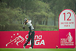 Song Yi Ahn of South Korea tees off at the 12th hole during Round 3 of the World Ladies Championship 2016 on 12 March 2016 at Mission Hills Olazabal Golf Course in Dongguan, China. Photo by Victor Fraile / Power Sport Images