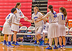24 November 2015: Yeshiva University Maccabee Forward Simee Rosner, a Junior from Woodsburgh, NY, is introduced prior to a game against the College of Mount Saint Vincent Dolphins at the Baruch College ARC Arena Gymnasium, in New York, NY. The Dolphins defeated the Maccabees 67-30 in the NCAA Division III Women's Basketball Skyline matchup. Mandatory Credit: Ed Wolfstein Photo *** RAW (NEF) Image File Available ***