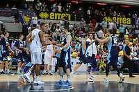Bosnia & Herzegovina celebrate there win during the EuroBasket 2015 2nd Qualifying Round Great Britain v Bosnia & Herzegovina (Euro Basket 2nd Qualifying Round) at Copper Box Arena in London. - 13/08/2014