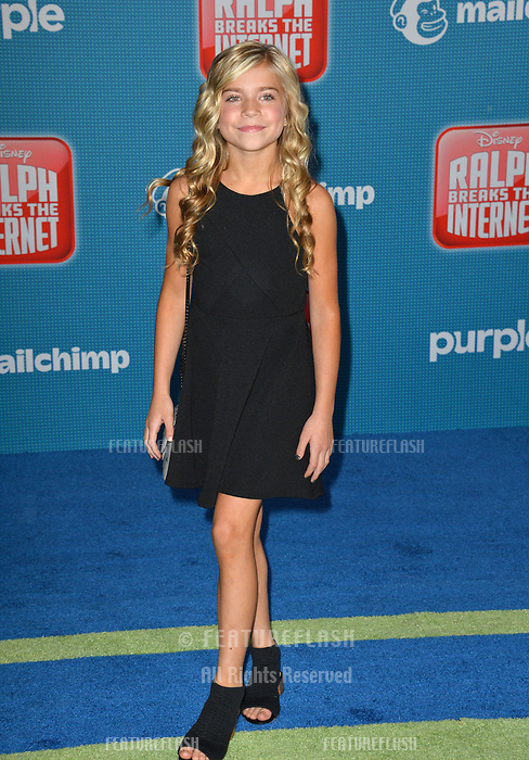 LOS ANGELES, CA. November 05, 2018: Kamri Peterson at the world premiere of &quot;Ralph Breaks The Internet&quot; at the El Capitan Theatre.<br /> Picture: Paul Smith/Featureflash