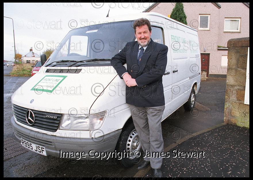 11th Nov 98     .Copyright Pic : James Stewart   .JOHN WARD : FRONTLINE CONSTRUCTION.Payments to :-.James Stewart Photo Agency, Stewart House, Stewart Road, Falkirk. FK2 7AS      Vat Reg No. 607 6932 25.Office : 01324 630007        Mobile : 0421 416997.E-mail : JSpics@aol.com.If you require further information then contact Jim Stewart on any of the numbers above.........