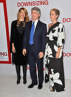 Laura Dern, Alexander Payne &amp; Kristen Wiig at the special screening of &quot;Downsizing&quot; at the Regency Village Theatre, Westwood, USA 18 Dec. 2017<br /> Picture: Paul Smith/Featureflash/SilverHub 0208 004 5359 sales@silverhubmedia.com