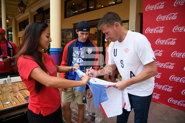 Orlando, FL - Friday Oct. 06, 2017: Coca Cola Brian McBride Appearence before a 2018 FIFA World Cup Qualifier between the men's national teams of the United States (USA) and Panama (PAN) at Orlando City Stadium.
