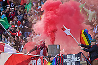 Portland, OR - Saturday, May 21, 2016: Portland Thorns FC supporters. The Portland Thorns FC defeated the Washington Spirit 4-1 during a regular season National Women's Soccer League (NWSL) match at Providence Park.