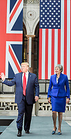 Theresa May and Donald Trump Joint Press Conference at Foreign Office