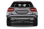 Straight Rear View of 2015 Mercedes Benz GLA-Class 250 5 Door SUV Stock Photo