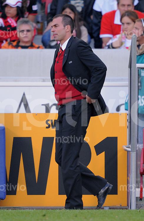FUSSBALL  1. BUNDESLIGA  SAISON 2009/2010   8. Spieltag   04.10.2009 VfB Stuttgart  - SV Werder Bremen Enttaeuschung VfB, Trainer Markus Babbel