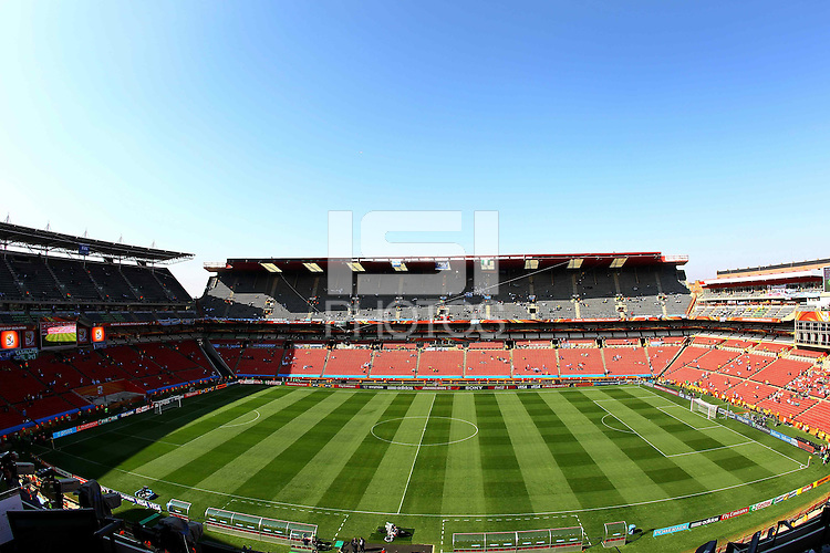 General view of the Ellis Park Stadium prior to game between Argentina against Nigeria..