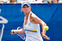 April 10, 2010:  MPS Group Championships.  Olga Govortsova (BLR) eyes a forehand return during semifinal singles action at the MPS Group Championships played at the Sawgrass Country Club in Ponte Vedra, Florida. Olga Govortsova (BLR) defeated Dominika Cibulkova (SVK) 6-4, 7-5 to advance to the finals..