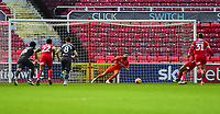 Swindon Town's Michael Doughty scores Swindon Town's opening goal from the penalty spot<br /> <br /> Photographer Andrew Vaughan/CameraSport<br /> <br /> The EFL Sky Bet League Two - Swindon Town v Lincoln City - Saturday 12th January 2019 - County Ground - Swindon<br /> <br /> World Copyright &copy; 2019 CameraSport. All rights reserved. 43 Linden Ave. Countesthorpe. Leicester. England. LE8 5PG - Tel: +44 (0) 116 277 4147 - admin@camerasport.com - www.camerasport.com