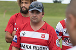 Karaka Coach Scott Penney. Counties Manukau Premier Counties Power Club Rugby game between Karaka and Pukekohe, played at the Karaka Sports Park on Saturday March 10th 2018. Pukekohe won the game 31 - 27 after trailing 5 - 20 at halftime.<br /> Photo by Richard Spranger.