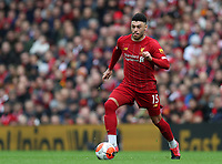 7th March 2020; Anfield, Liverpool, Merseyside, England; English Premier League Football, Liverpool versus AFC Bournemouth; Alex Oxlade-Chamberlain of Liverpool  races forward with the ball