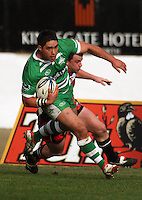 Francis Bryant crosses the tryline for Manawatu during the Air NZ Cup rugby match between Manawatu Turbos and Counties-Manukau Steelers at FMG Stadium, Palmerston North, New Zealand on Sunday, 2 August 2009. Photo: Dave Lintott / lintottphoto.co.nz