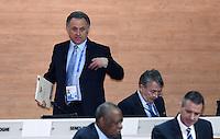 Fussball International Ausserordentlicher FIFA Kongress 2016 im Hallenstadion in Zuerich 26.02.2016 Vitaly MUTKO (li, Russland, FIFA-Exekutivkomitee) und Wolfgang NIERSBACH (Deutschland, FIFA-Exekutivkomitee)
