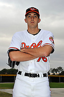 Feb 27, 2010; Tampa, FL, USA; Baltimore Orioles  pitcher Josh Perrault (76) during  photoday at Ed Smith Stadium. Mandatory Credit: Tomasso De Rosa